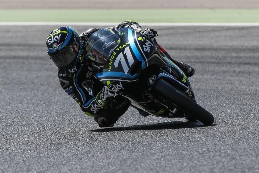 Foggia in pista con la sua moto