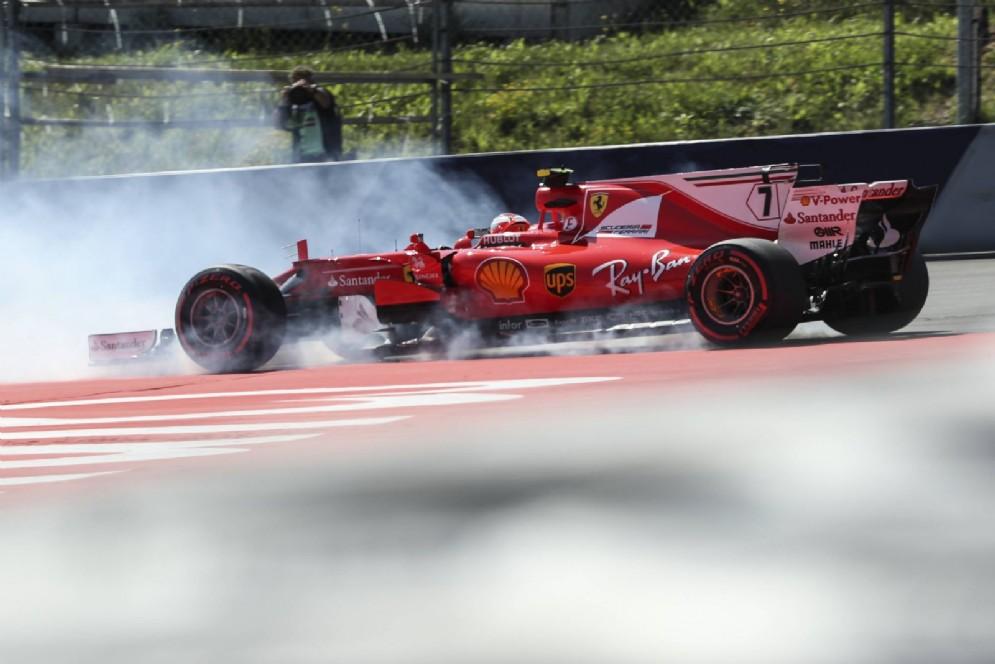 Kimi Raikkonen in testacoda sul Red Bull Ring