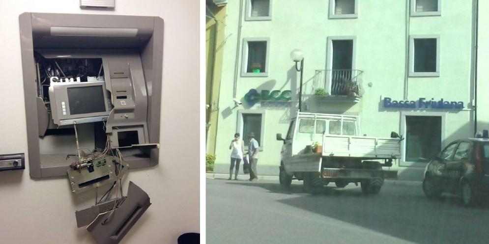 Il bancomat preso di mira