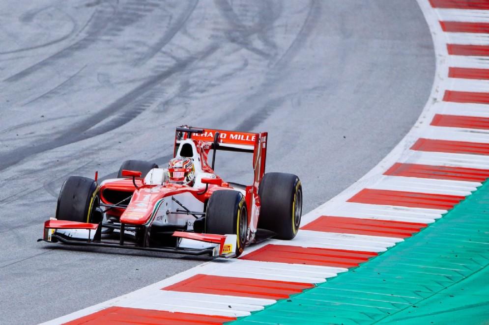 Leclerc in azione al Red Bull Ring con la monoposto del team Prema