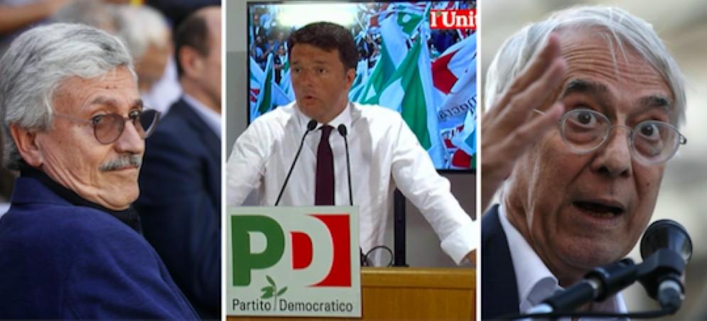 Massimo D'Alema, Matteo Renzi e Giuliano Pisapia