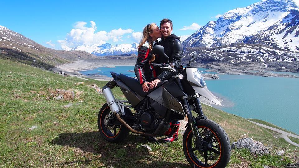 Elisa e Matteo, durante una gita al lago Moncenisio