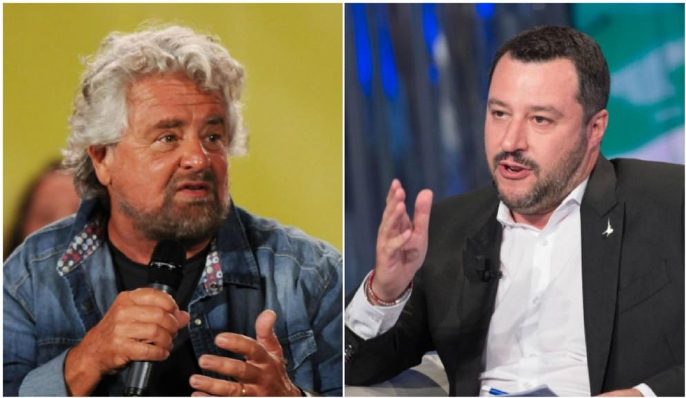 Matteo Salvini strizza l'occhio a Beppe Grillo.
