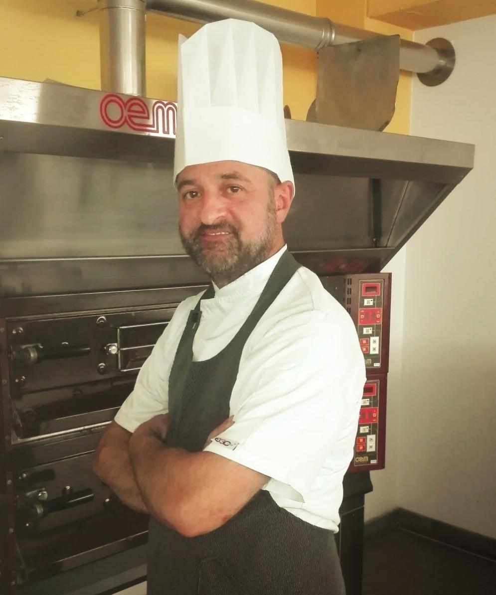 Stefano Napolitano, insegnante di cucina del corso