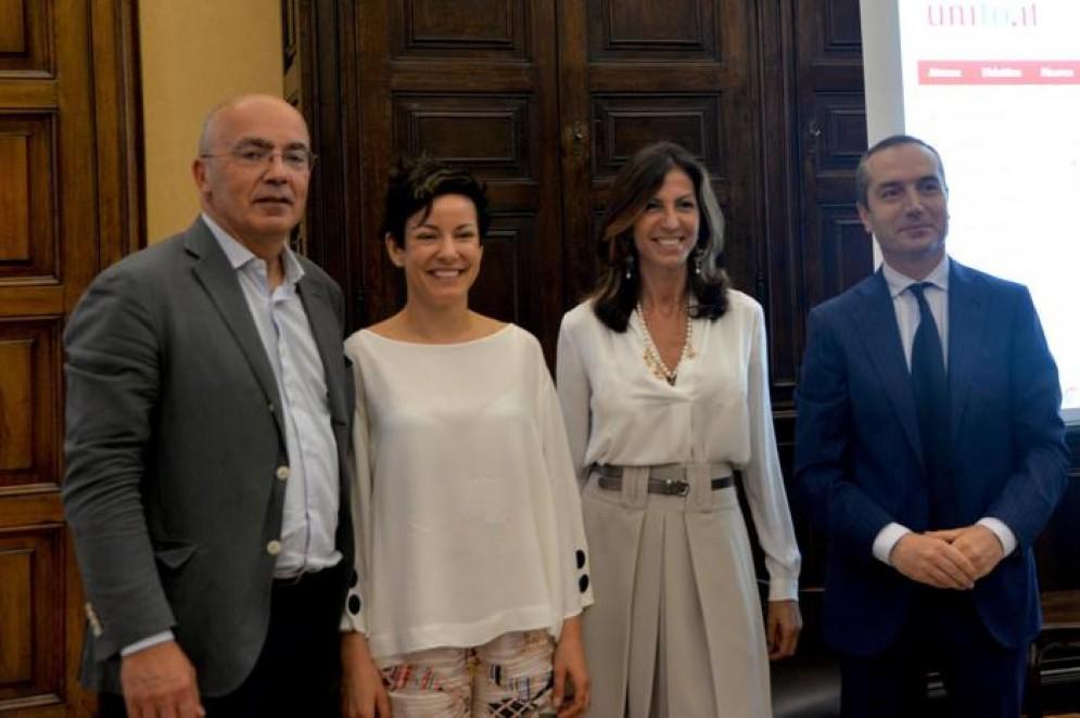 Paola Pisano, alla conferenza stampa che ha annunciato la novità del wi-fi