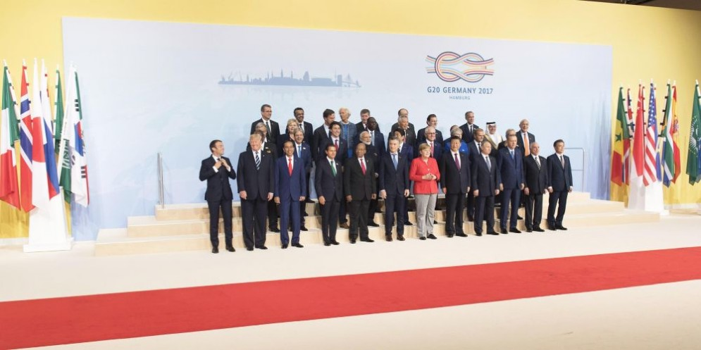 I leader del G20 riuniti ad Amburgo