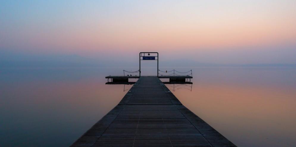 Tramonto al lago di Viverone (© DavidePro)