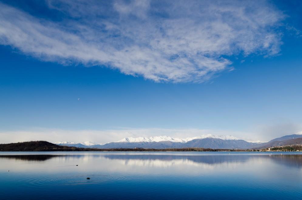 Panoramica sul lago di Viverone