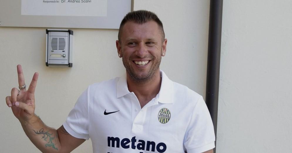 Antonio Cassano, giocatore del Verona