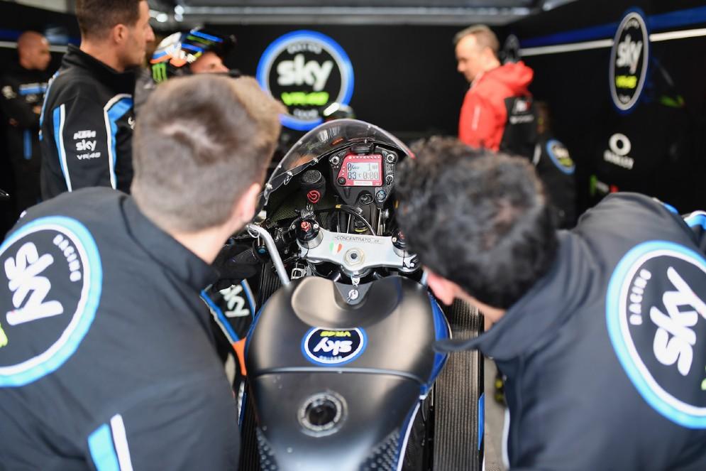 La moto del team Sky Vr46 in Moto3