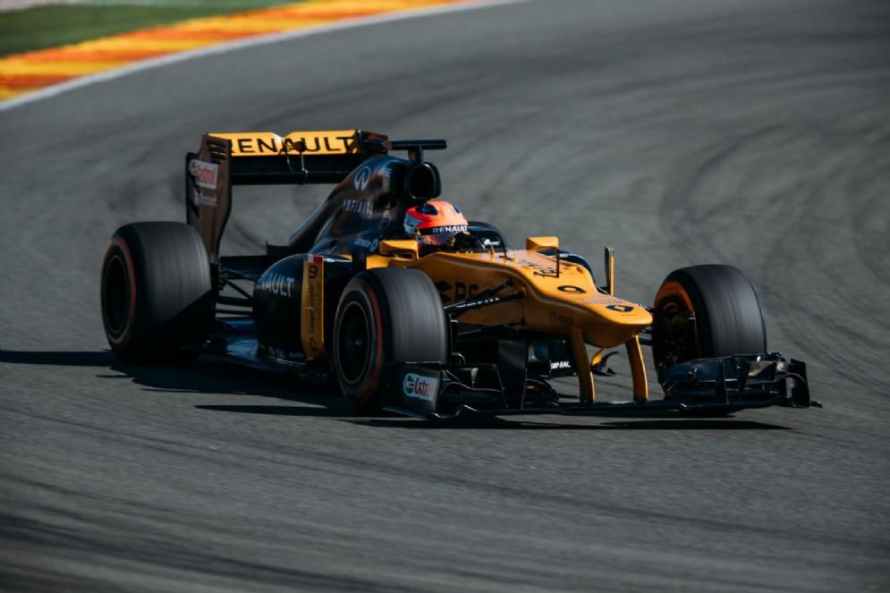 Kubica al volante della Renault del 2012 nel recente test a Valencia