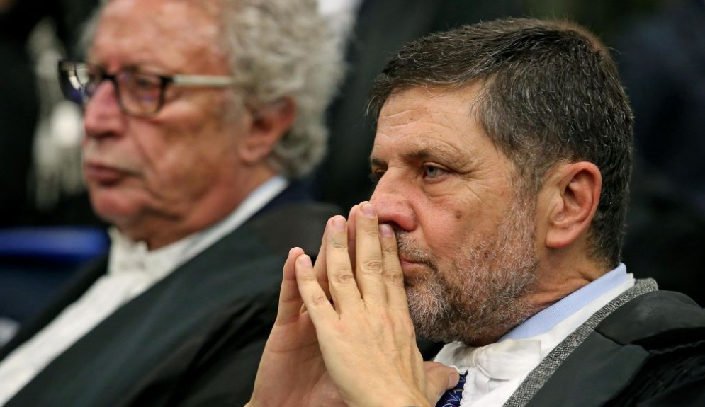 L'avvocato di Massimo Carminati, Giosué Naso, durante il processo Mafia Capitale.