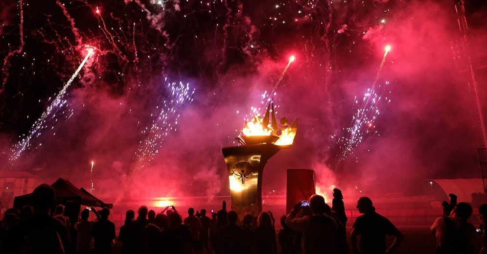 I fuochi di artificio della cerimonia di apertura