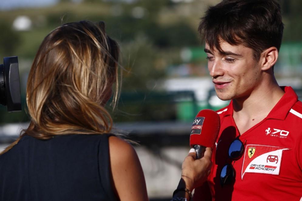 Charles Leclerc, il giovane della Ferrari Driver Academy attuale leader della Formula 2