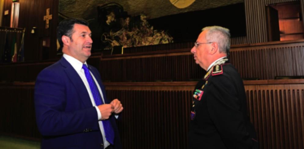 Franco Iacop ha accolto il generale di Corpo d'armata Aldo Visone