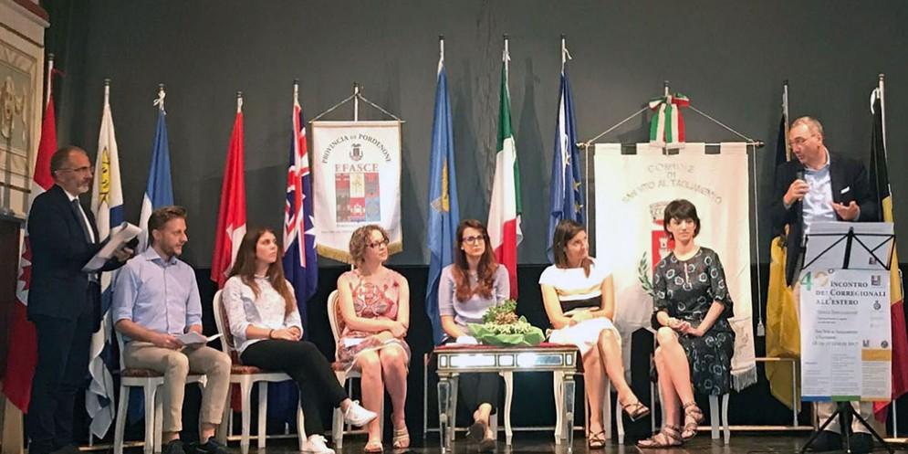 Giornata dei corregionali all'estero organizzata dall'Efasce ed Efm svoltasi a s. Vito al Tagliamento e Valvasone