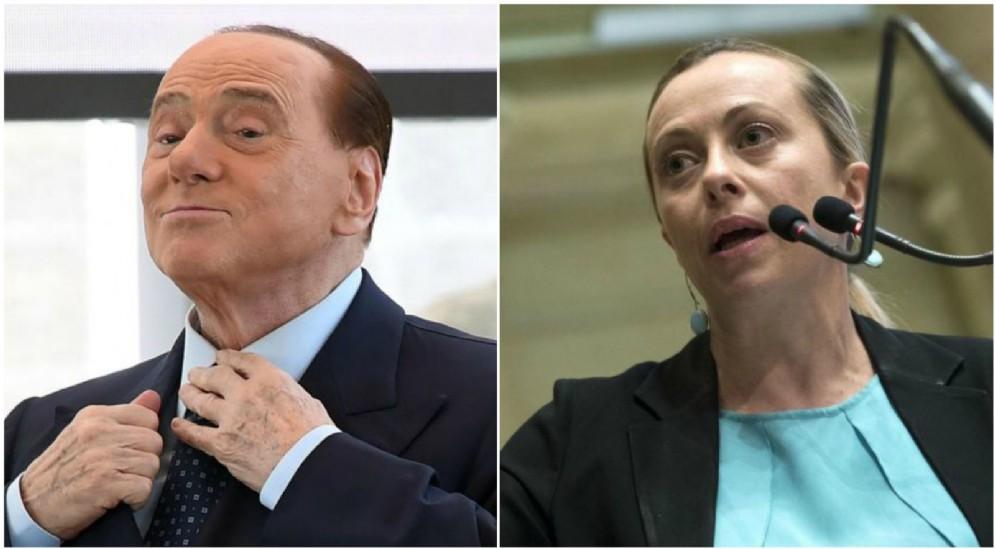 La presidente di Fdi, Giorgia Meloni, lancia un aut aut a Silvio Berlusconi.