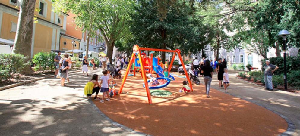 Il giardino di piazza Hortis