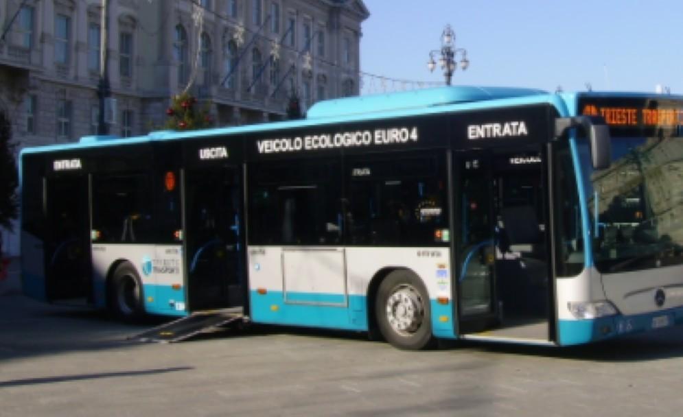 Un autobus di Trieste Trasporti
