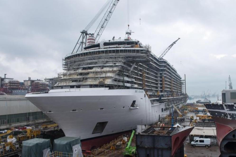 Fincantieri pronta per la cerimonia di 'float out'della 'MSC Seaview'