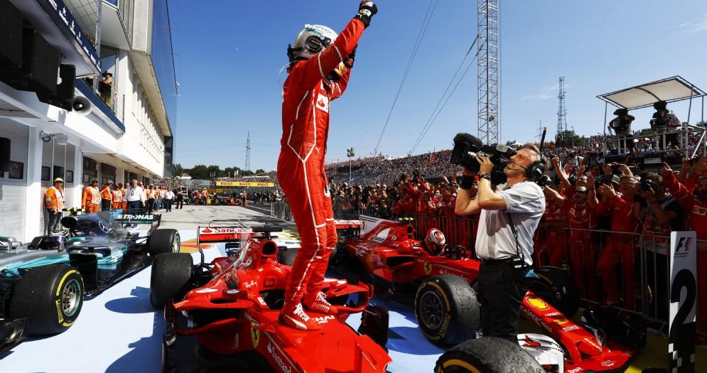 Sebastian Vettel, trionfatore su Ferrari dell'ultimo GP in Ungheria