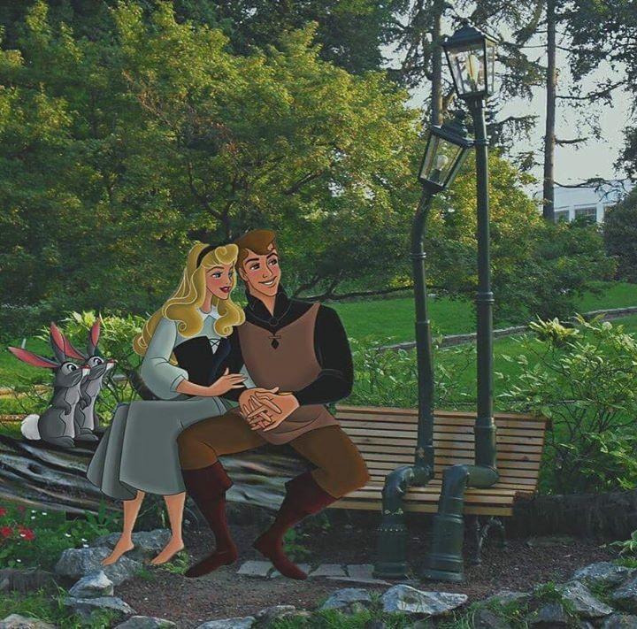 La bella addormentata e il suo principe al parco del Valentino