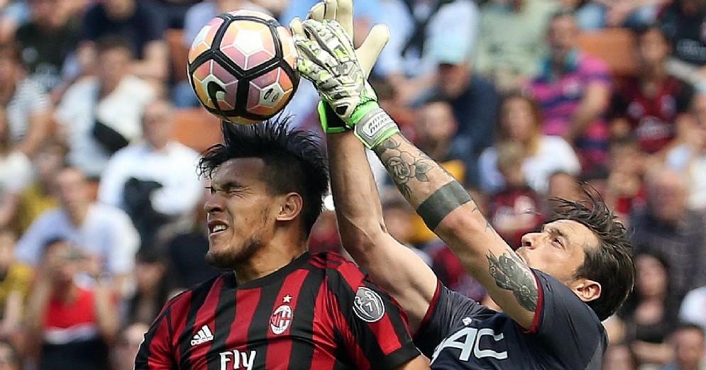 Il difensore paraguayano del Milan Gustavo Gomez