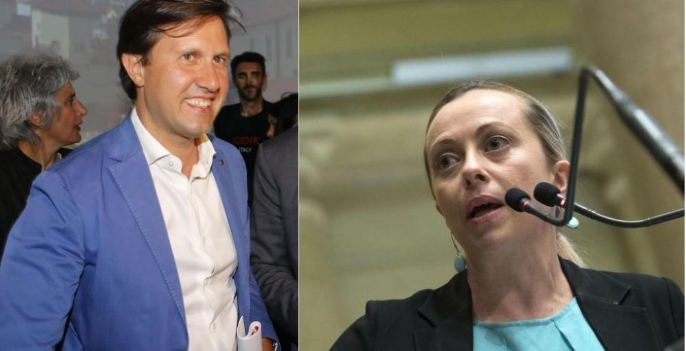 Il sindaco di Firenze Dario Nardella e la leader di Fdi Giorgia Meloni