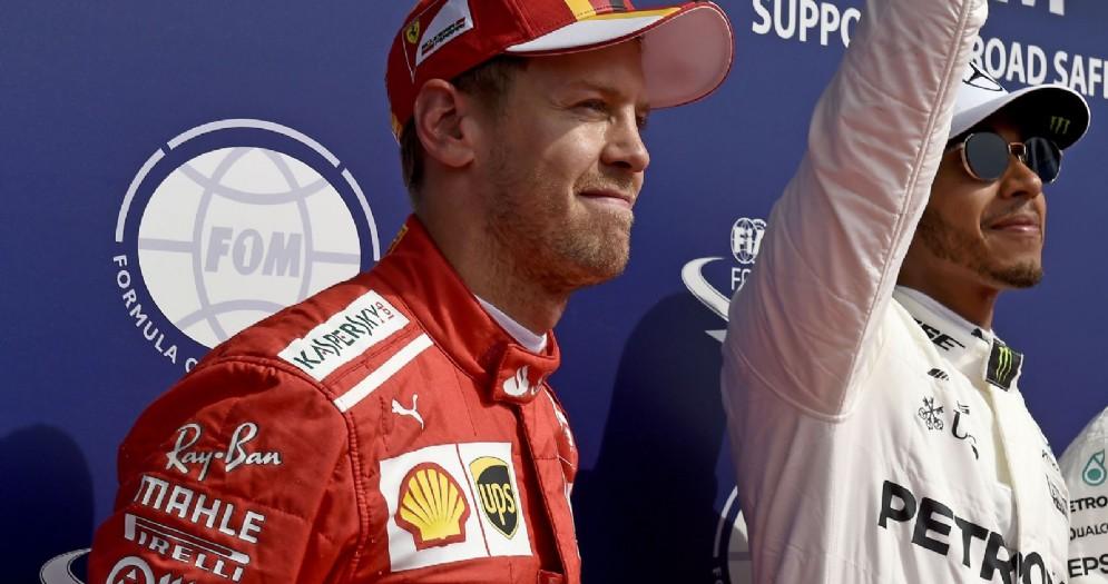 Lewis Hamilton e Sebastian Vettel in prima fila del GP del Belgio