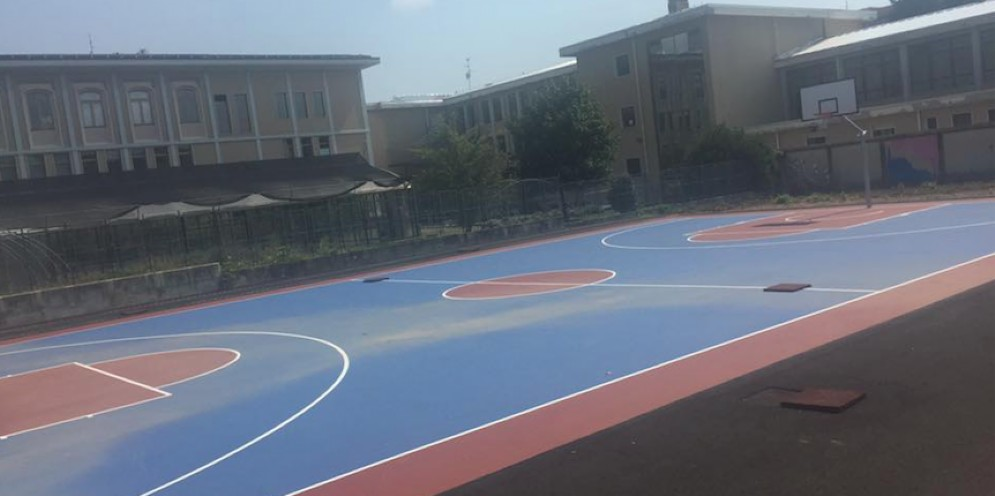 Il campo da basket