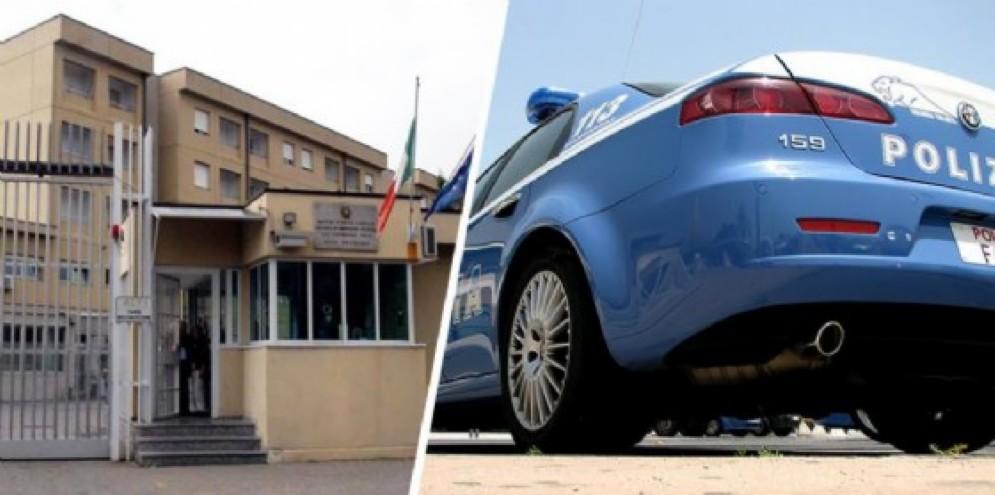 Carcere di Biella e volante della Polizia di Stato