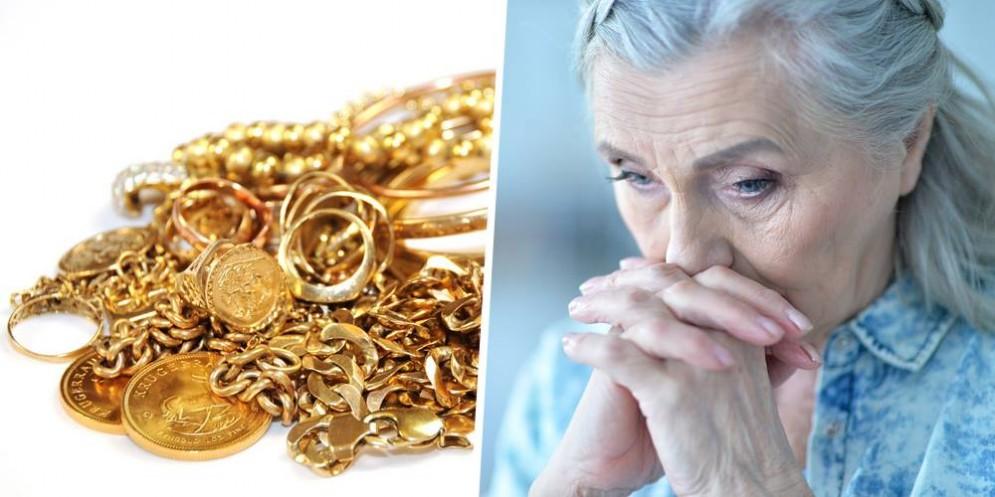 Anziana e gioielli