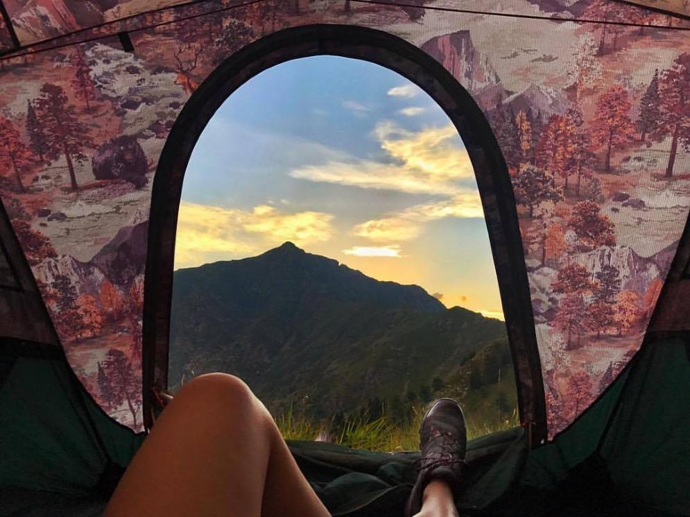 Notte in tenda sulle nostre montagne biellesi