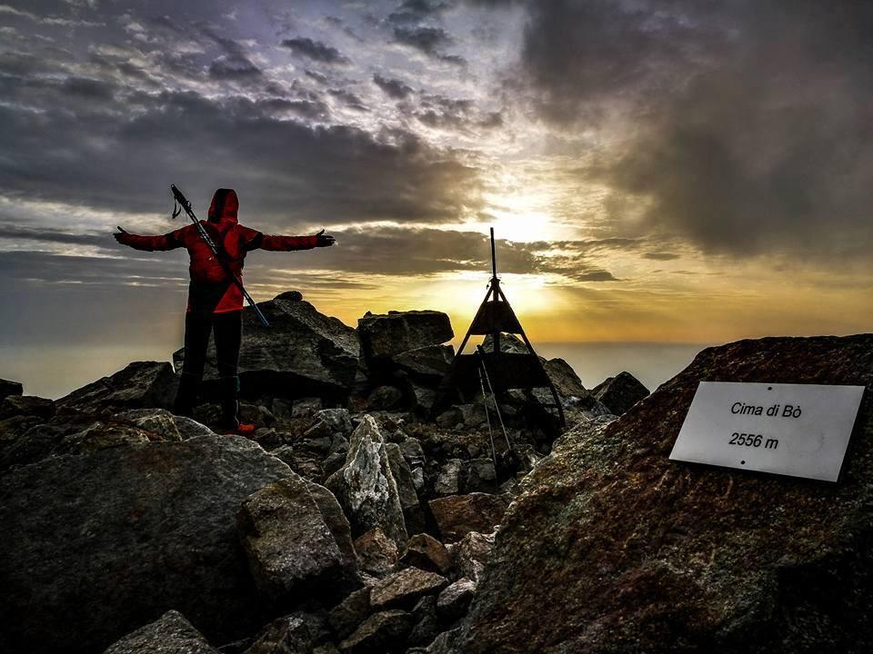 L'alba vista dal Monte Bo