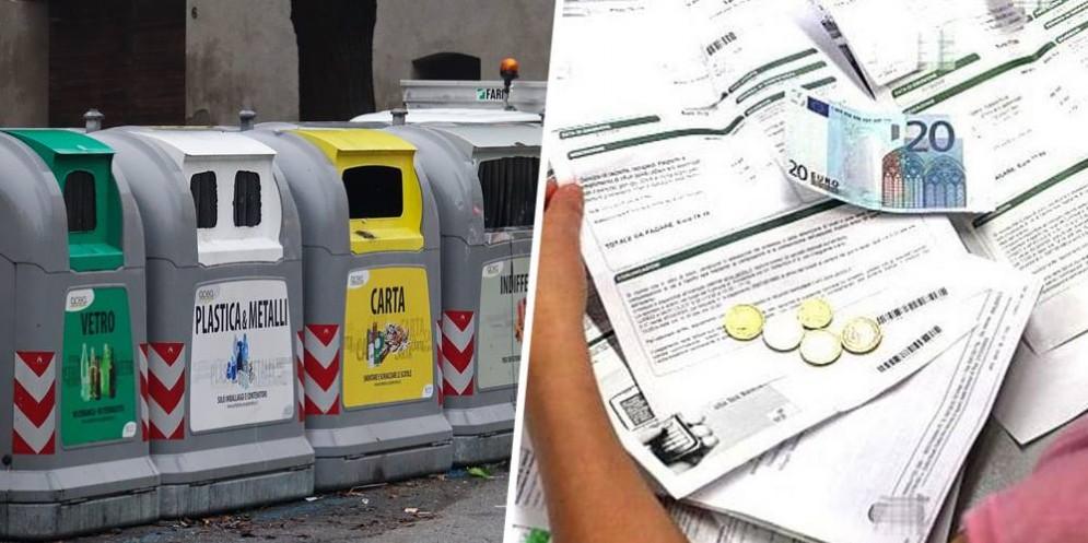 Rifiuti e bollettini per pagare le contravvenzioni