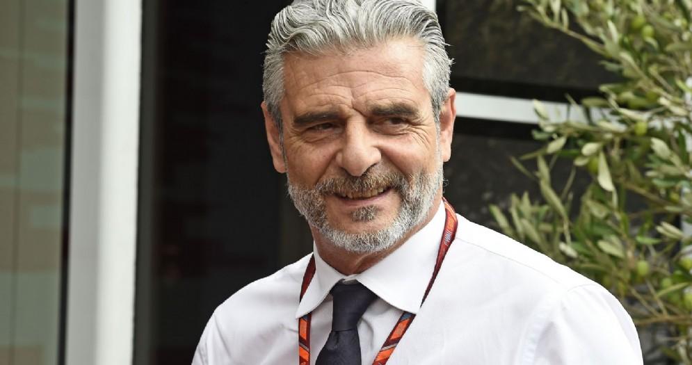 Il team principal della Ferrari Maurizio Arrivabene nel paddock di Monza