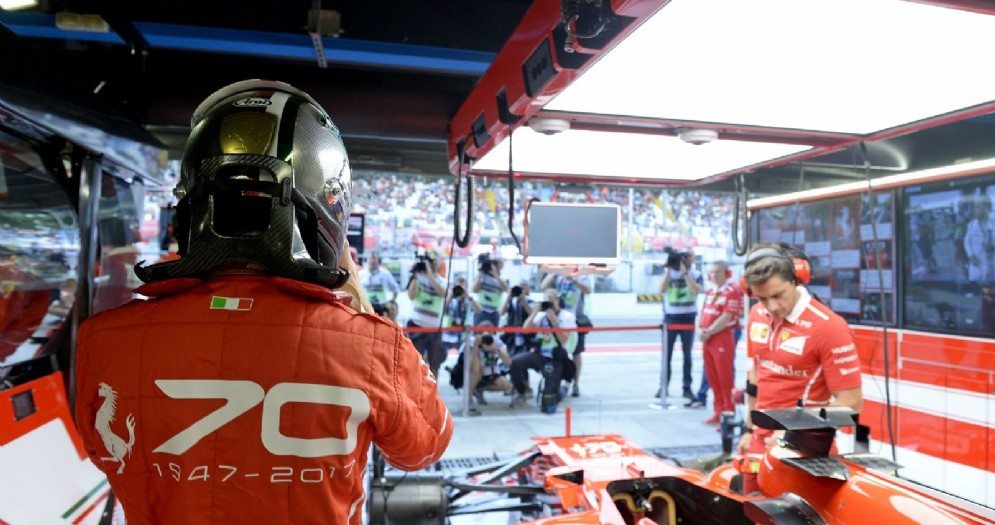 Il box della Ferrari a Monza