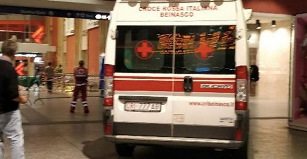 La Croce Rossa intervenuta in stazione