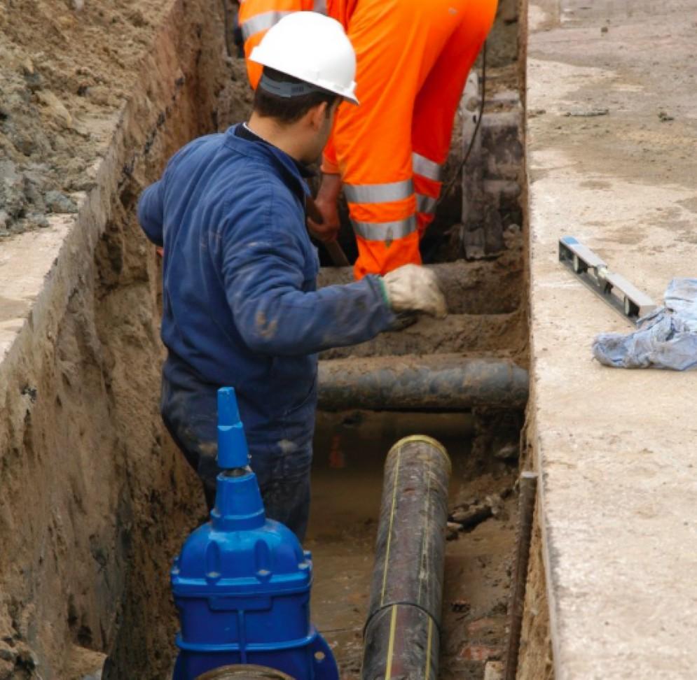 Lavori di manutenzione della rete idrica