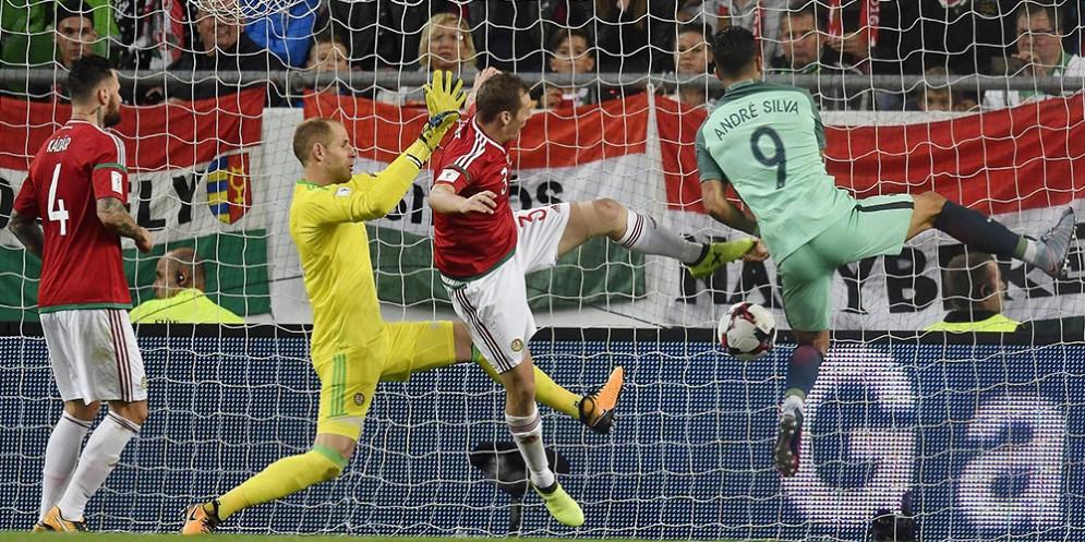 Il gol segnato da Andrè Silva con la maglia del Portogallo