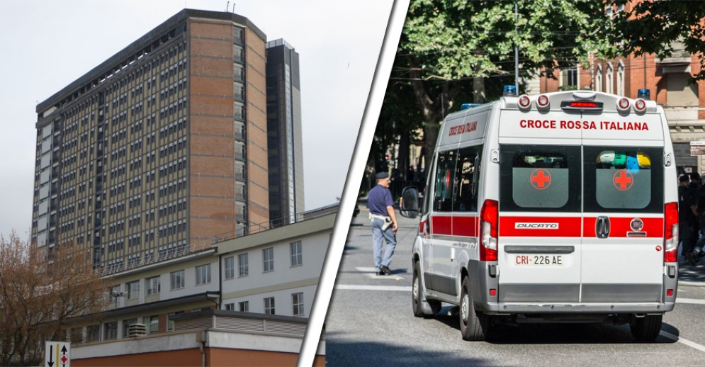 L'uomo è stato portato all'ospedale Cto di Torino
