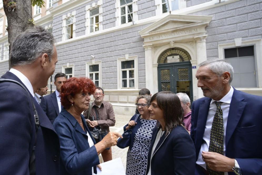 Serracchiani e Fedeli all'Accademia Nautica dell'Adriatico