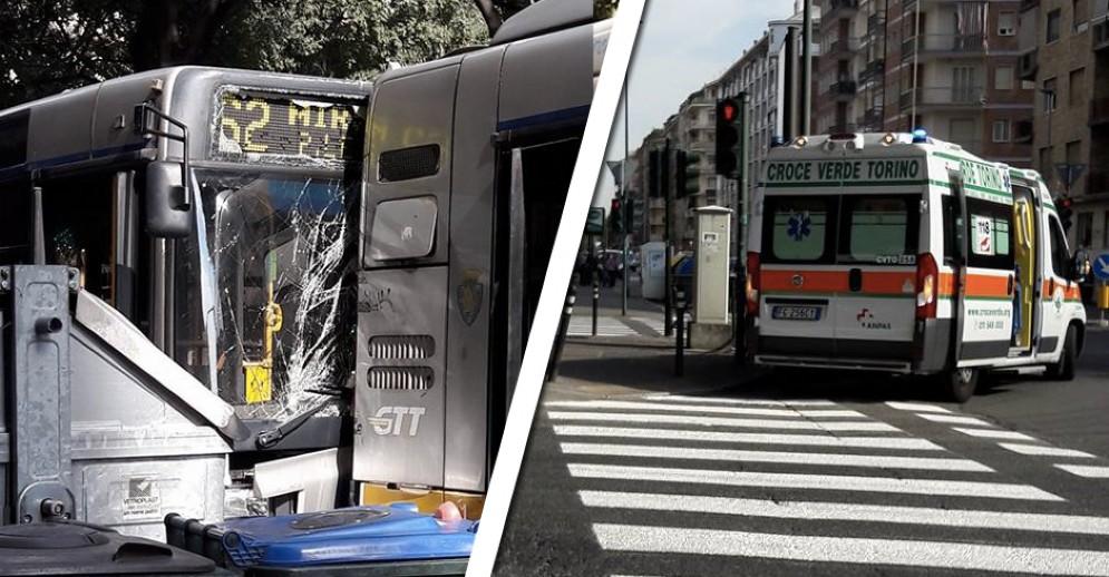 Il tamponamento tra bus e l'intervento della Croce Verde
