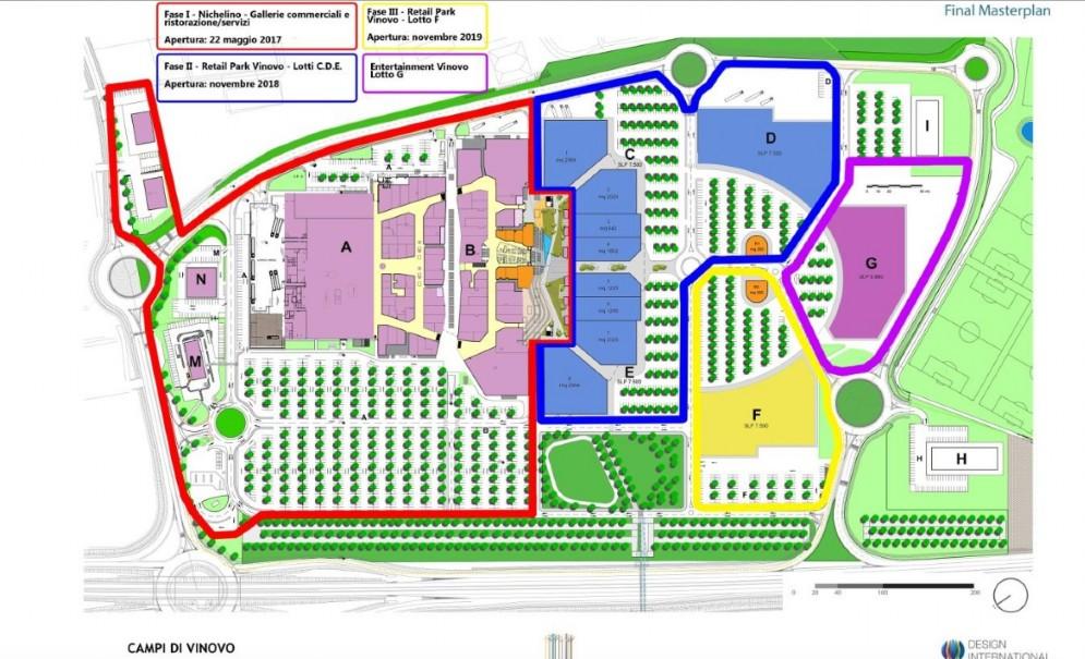 Il progetto completo dello shopping center