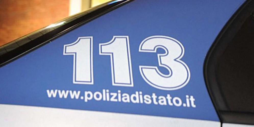 L'intervento della Polizia