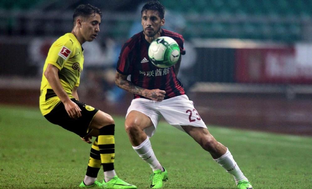 Sosa in una delle sue ultime prestazioni con la maglia del Milan