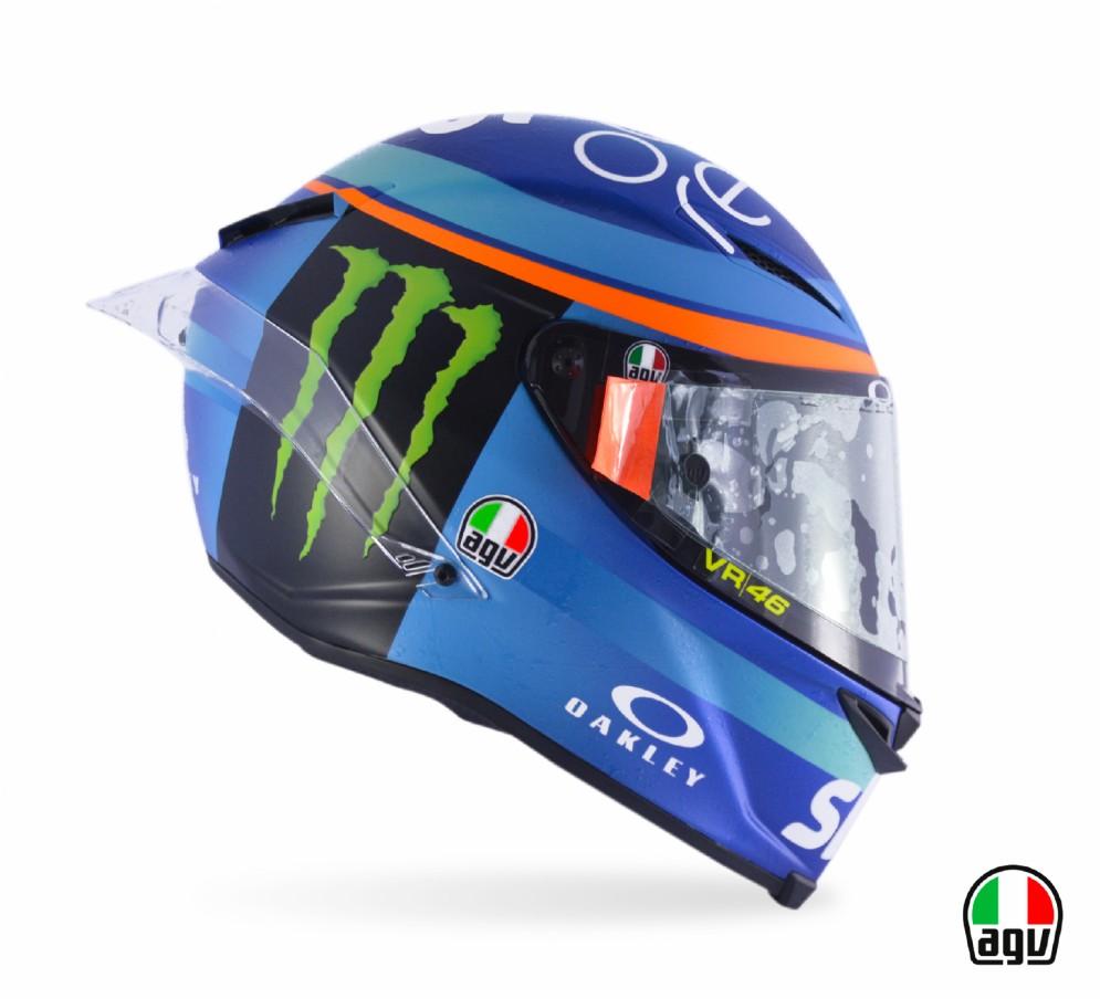 Il casco dei piloti del team Sky Vr46 per la gara di Misano