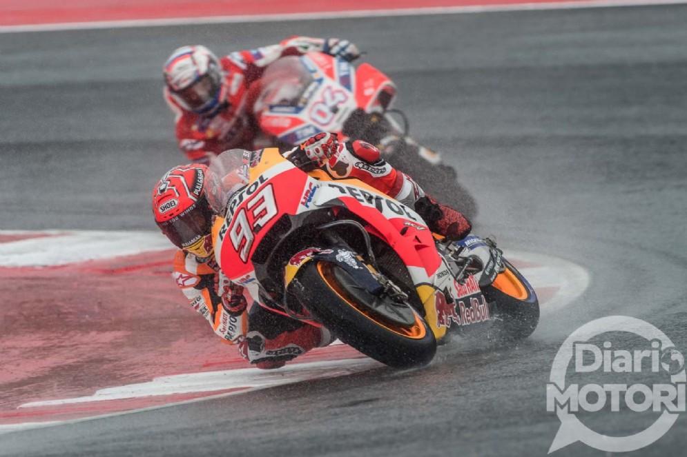 Marquez in lotta con Andrea Dovizioso
