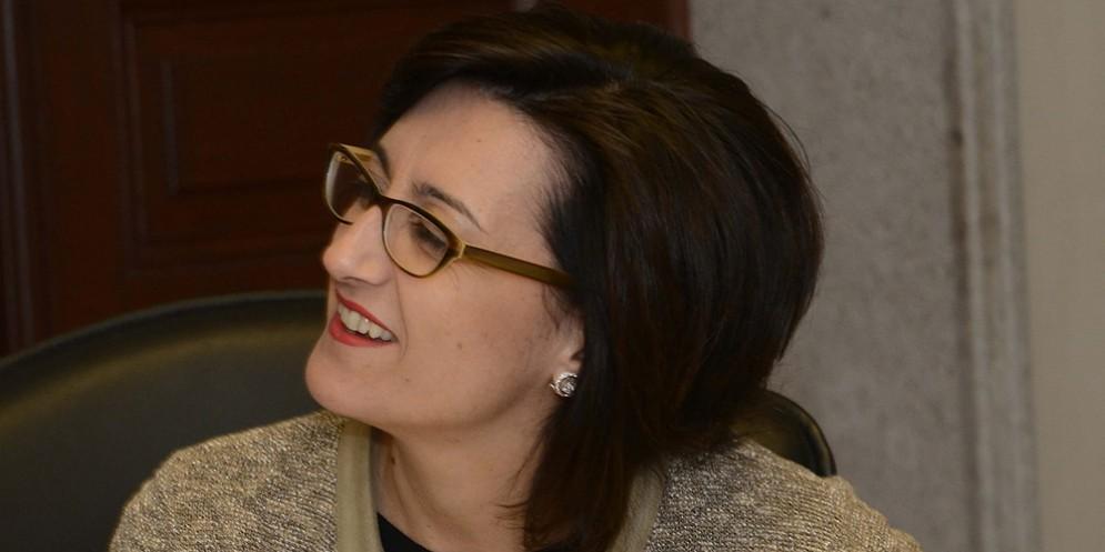 Sara Vito (Assessore regionale Ambiente ed Energia) durante la riunione della Giunta regionale