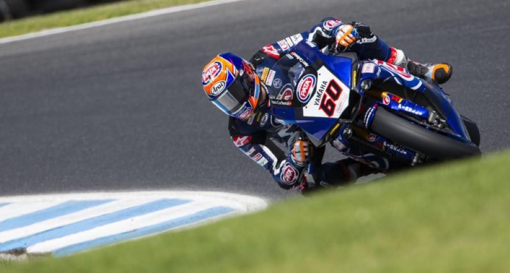 Michael van der Mark in azione sulla Yamaha Superbike